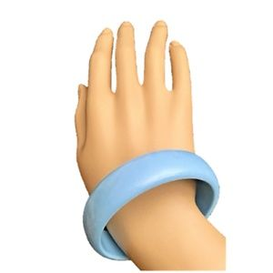 Women's Lucite Bangle Bracelet Chunky Powder Blue